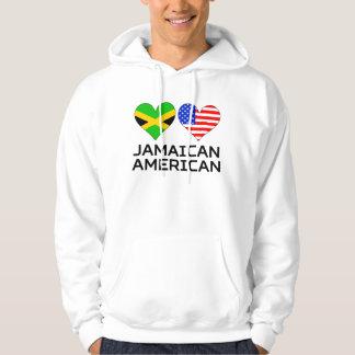 Corazones americanos jamaicanos sudadera