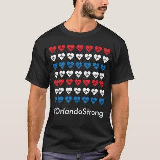 Corazones blancos del pulso 49 fuertes de Orlando Camiseta