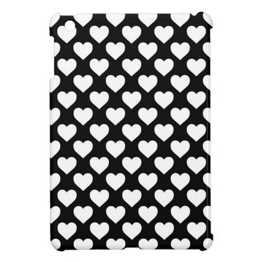 Corazones blancos en fondo negro | Zazzle