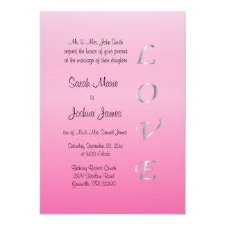 Corazones bonitos del amor de la bodas de plata invitación 12,7 x 17,8 cm