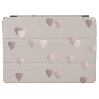 corazones color de rosa claros simples del amor de cubierta de iPad air