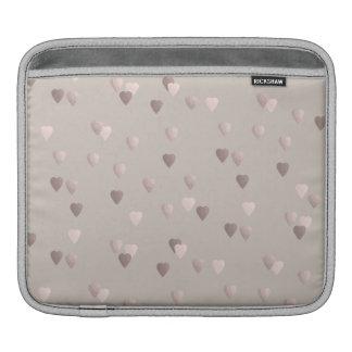 corazones color de rosa claros simples del amor de funda para iPad