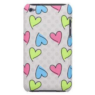 Corazones coloridos lindos funda para iPod