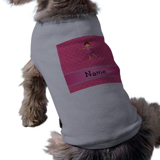 Corazones conocidos personalizados del rosa de la  camisetas mascota
