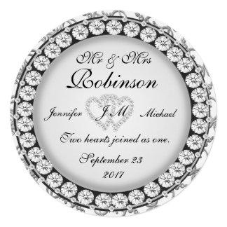 Corazones de la bodas de plata comunicados personalizados