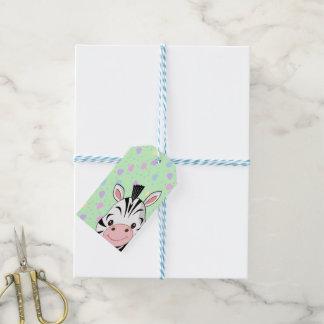 Corazones de la cebra etiquetas para regalos
