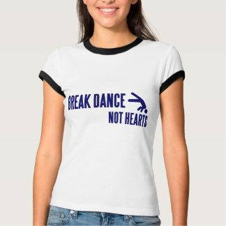 Corazones de la danza de rotura no camiseta