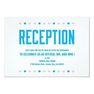 Corazones de la recepción pronto a ser Sr. y Invitación 8,9 X 12,7 Cm