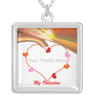Corazones de la tarjeta del día de San Valentín Colgante Cuadrado