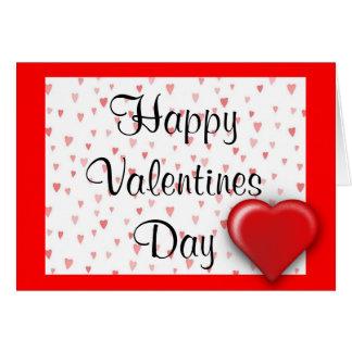 Corazones de la tarjeta del el día de San Valentín