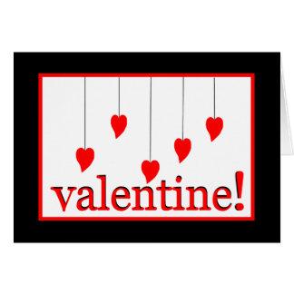 Corazones de las tarjetas del día de San Valentín
