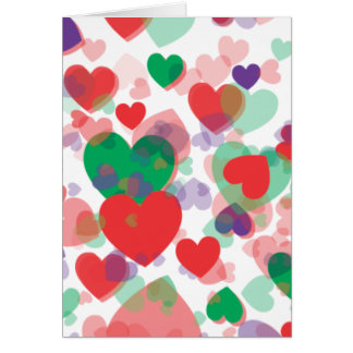 Corazones de los corazones tarjeta de felicitación