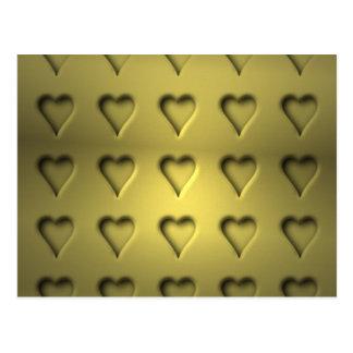 Corazones de oro de la tarjeta del día de San