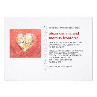Corazones decorativos que casan la invitación