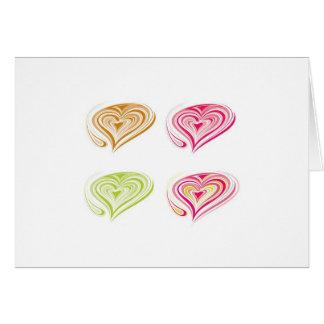Corazones decorativos tarjeta de felicitación