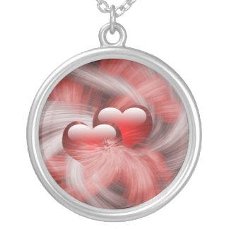 corazones del amor colgante redondo