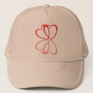 Corazones del amor gorra de camionero