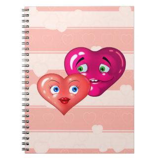 corazones del amor libro de apuntes con espiral