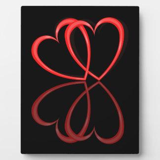 Corazones del amor placa expositora