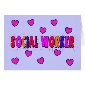 CORAZONES del asistente social Tarjeta De Felicitación