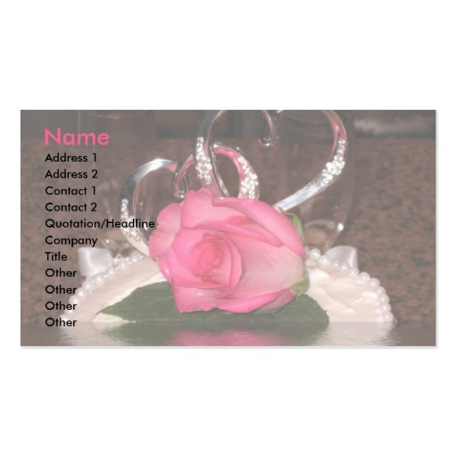 Corazones del boda tarjeta de visita