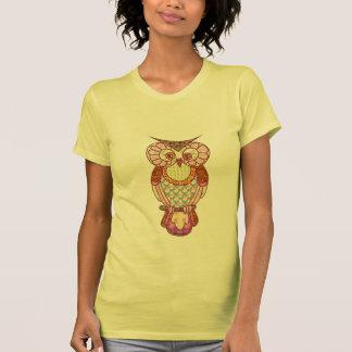 Corazones del búho del remiendo camisetas