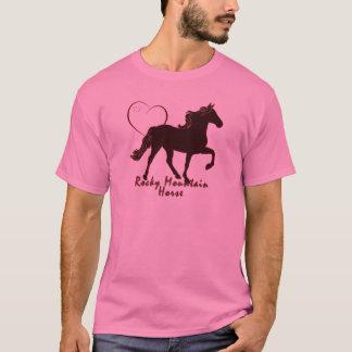 Corazones del caballo de la montaña rocosa camiseta