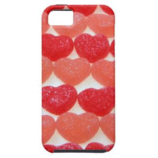 Corazones del caramelo en una fila funda para iPhone SE/5/5s