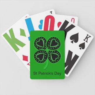 Corazones del día de St Patrick y naipes del trébo Barajas De Cartas
