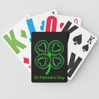 Corazones del día de St Patrick y naipes del trébo Cartas De Juego