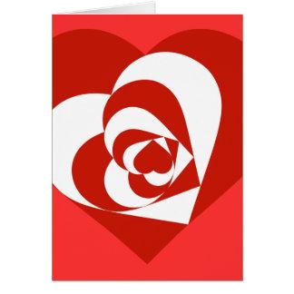 Corazones del el día de San Valentín Tarjeta De Felicitación