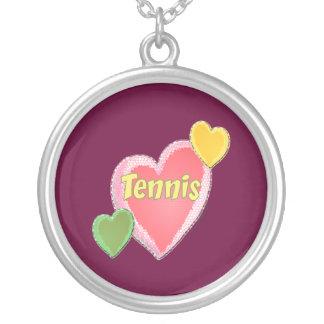 Corazones del tenis de los años 60 colgante redondo