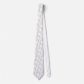 Corazones dobles de plata corbatas