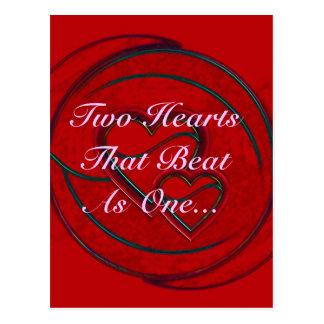 Corazones dobles dos corazones que batieron como u