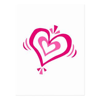 corazones dobles postal