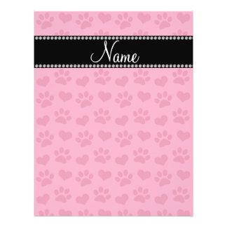 Corazones e impresiones rosados conocidos personal folleto 21,6 x 28 cm