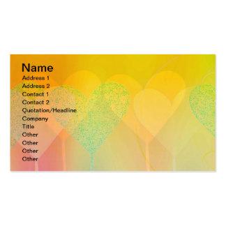 Corazones en colores pastel tarjetas de visita