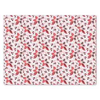 Corazones en las hojas de la vid y del acebo papel de seda