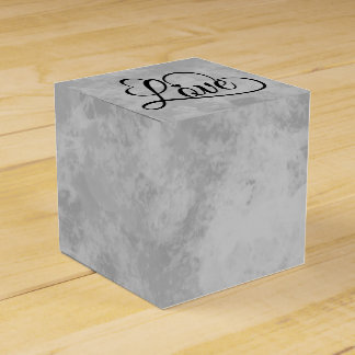 Corazones grises y negros del amor de la acuarela caja de regalos