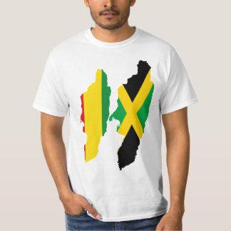 Corazones, Jamaica y Rasta/Etiopía duales Camiseta