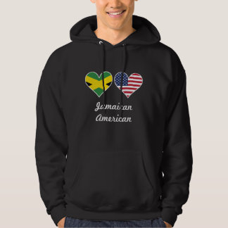 Corazones jamaicanos de la bandera americana sudadera