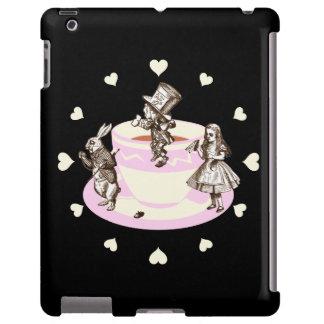 Corazones poner crema alrededor de una original funda para iPad