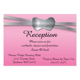 Corazones preciosos del amor de la bodas de plata tarjetas de visita grandes