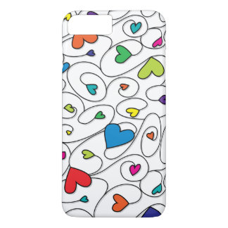 Corazones rizados brillantes funda iPhone 7 plus