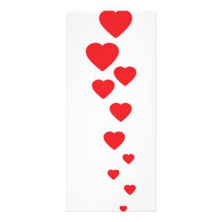 corazones rojos que vuelan al icono del cielo tarjetas publicitarias personalizadas