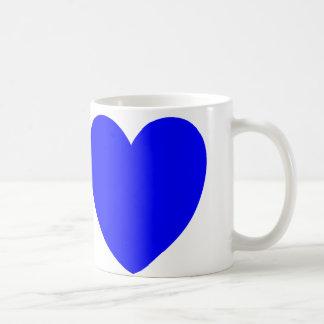 Corazones rojos y azules, impresión del arte abstr tazas de café