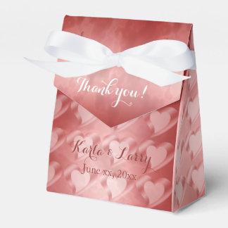 Corazones rojos y blancos caja de regalos