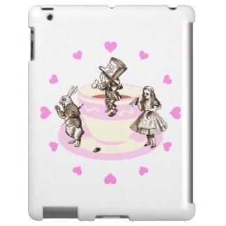 Corazones rosados alrededor de una original funda para iPad