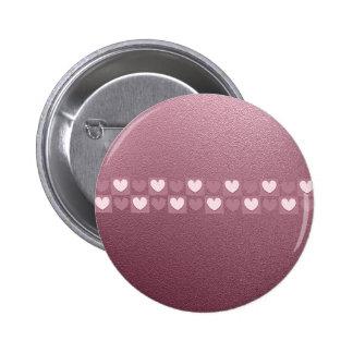 Corazones rosados pin