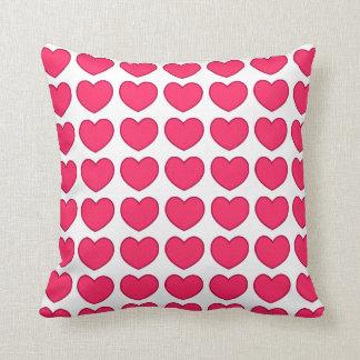 corazones rosados cojín decorativo